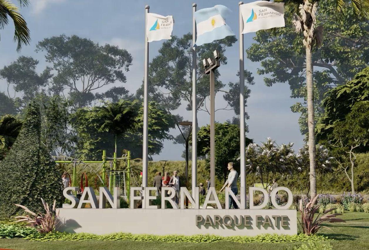 San Fernando anunció la construcción de un nuevo parque donde fue entubado el zanjón Fate