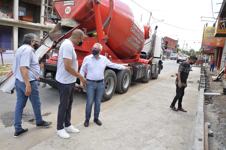 Zamora supervisó nuevas obras en el distrito