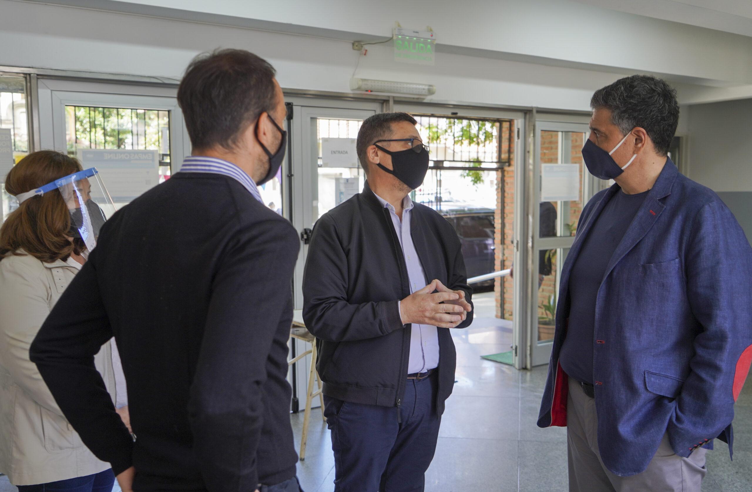 Alumnos de Vicente López vuelven a clases