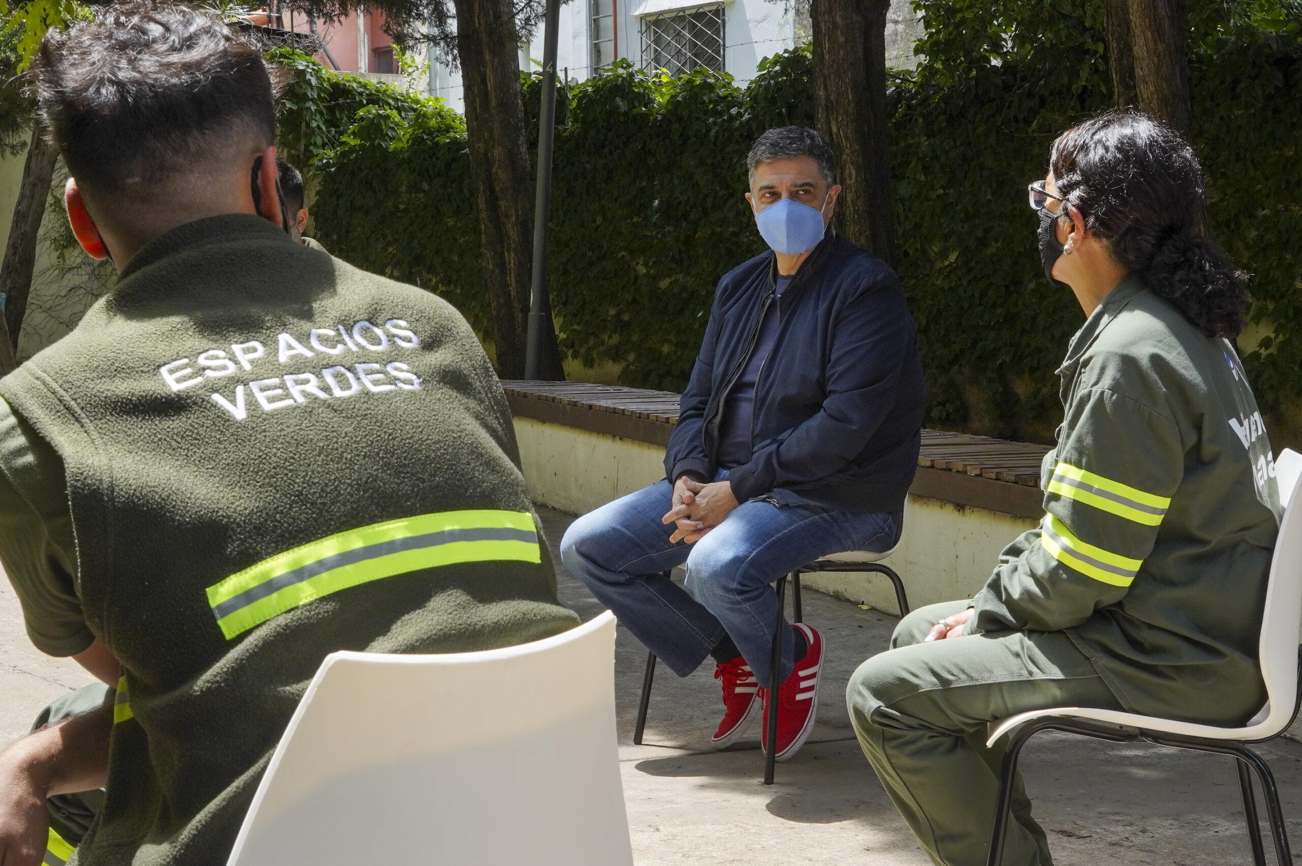 Jorge Macri agradeció el compromiso de los empleados de Servicios Públicos