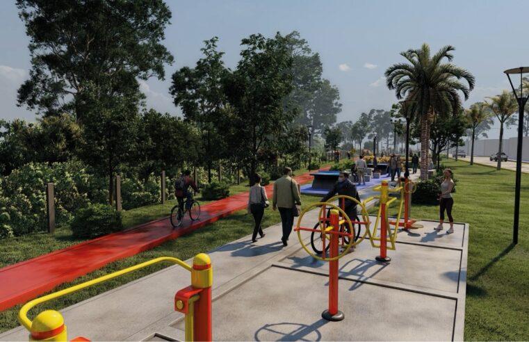"""Presentaron el parque que se construye donde se entubó el zanjón """"Miguel Cané"""""""