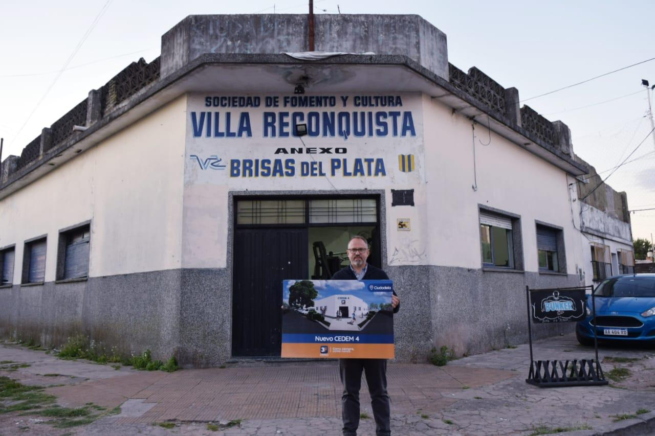 Valenzuela anunció la construcción del cuarto centro deportivo municipal en Ciudadela