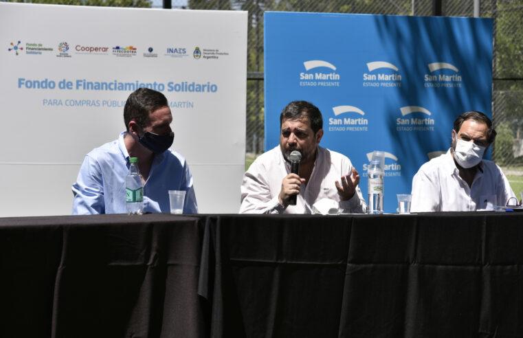 San Martín puso en marcha un Fondo Solidario para cooperativas