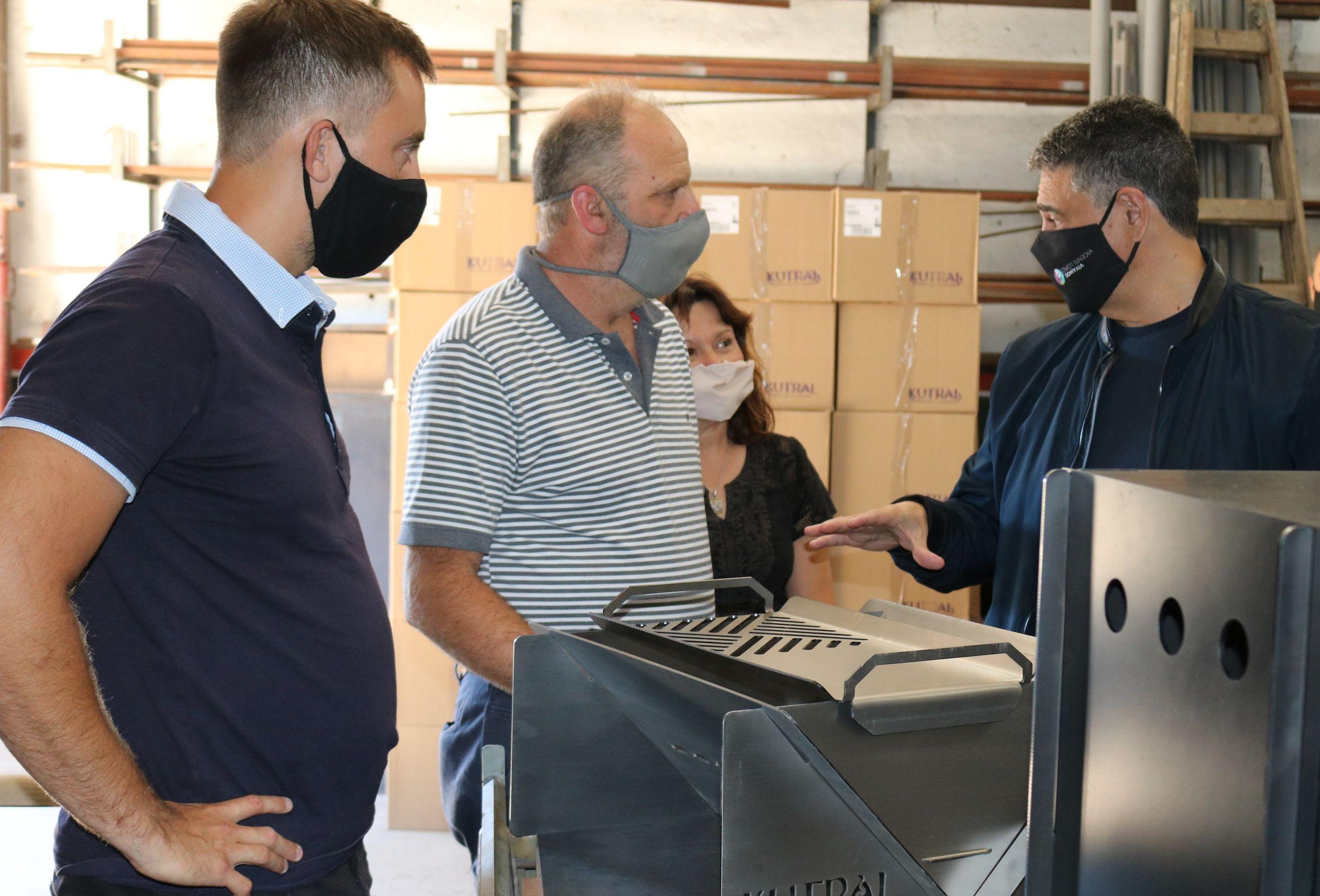 Jorge Macri visitó a emprendedores de José C. Paz