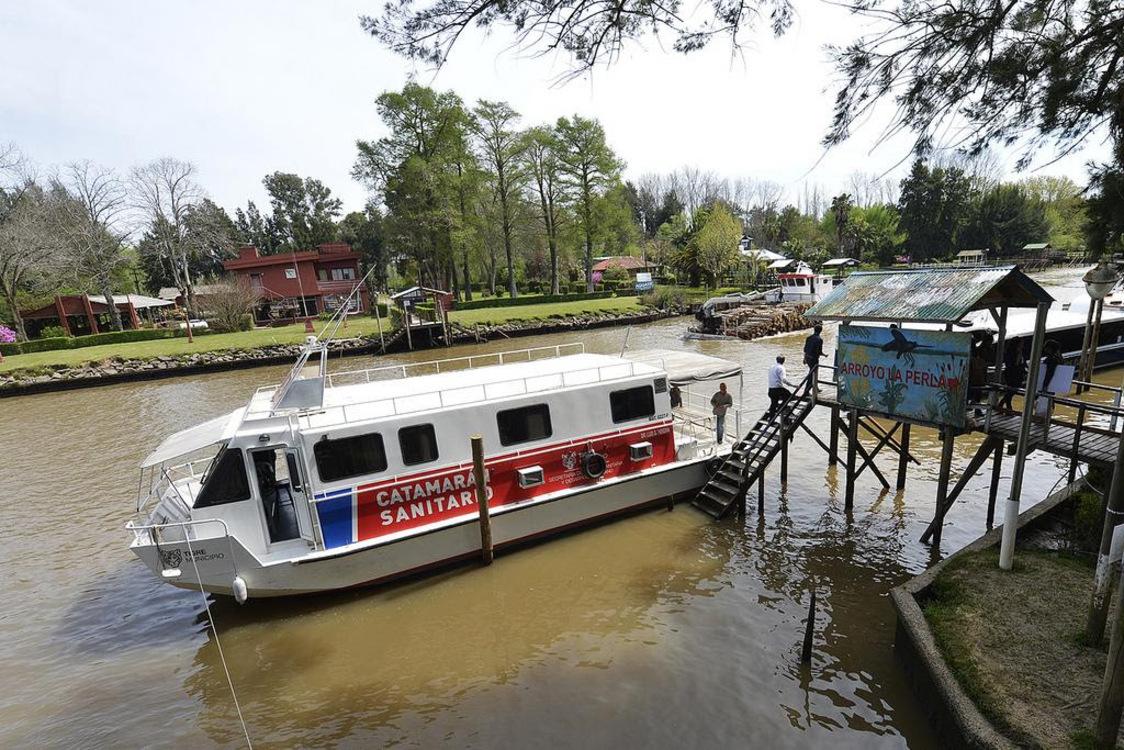 Cómo funcionará el Catamarán Sanitario en el Delta de Tigre durante enero