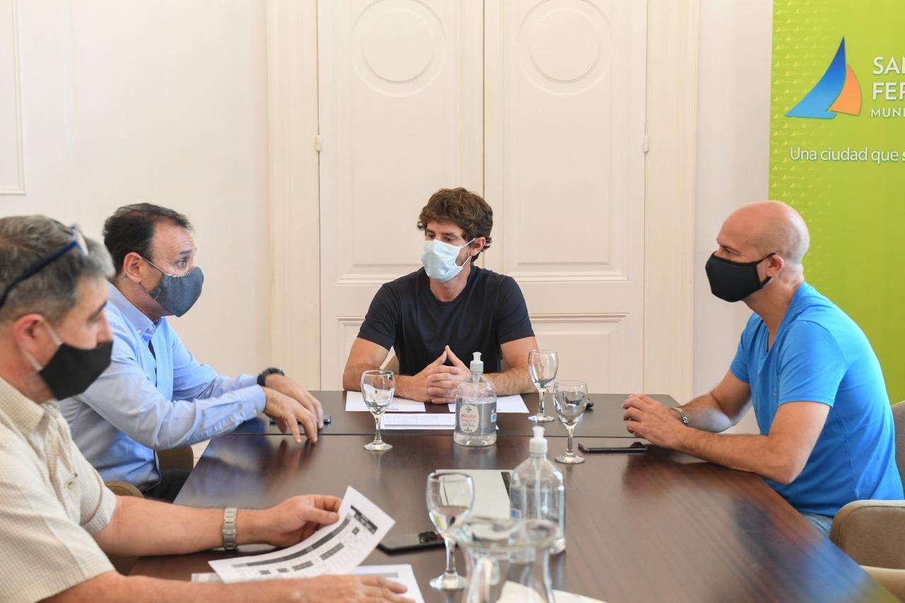 Andreotti recibió al ERAS y la APLA para avanzar en temas vinculados a agua y saneamiento