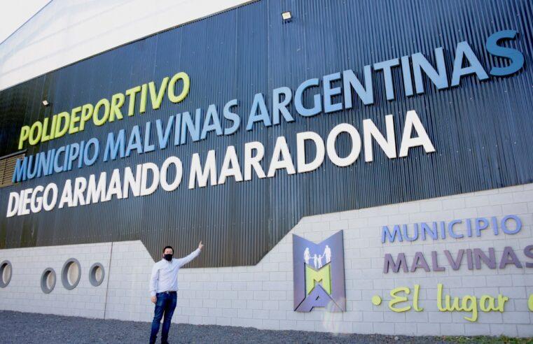 "Nardini supervisó las obras del polideportivo ""Diego Armando Maradona"""