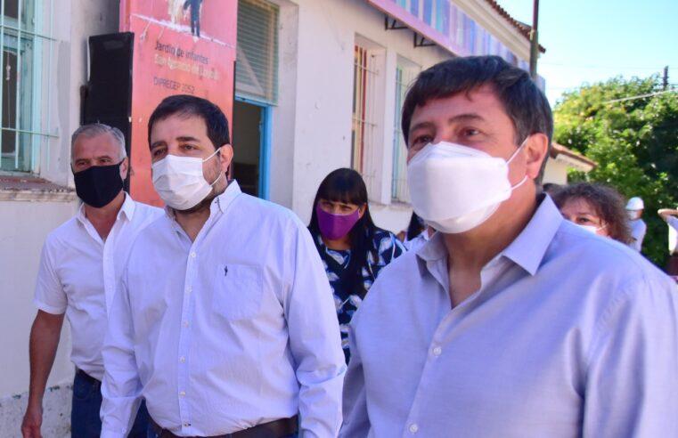 Moreira y Arroyo visitaron las obras en el Centro Infantil Loyola