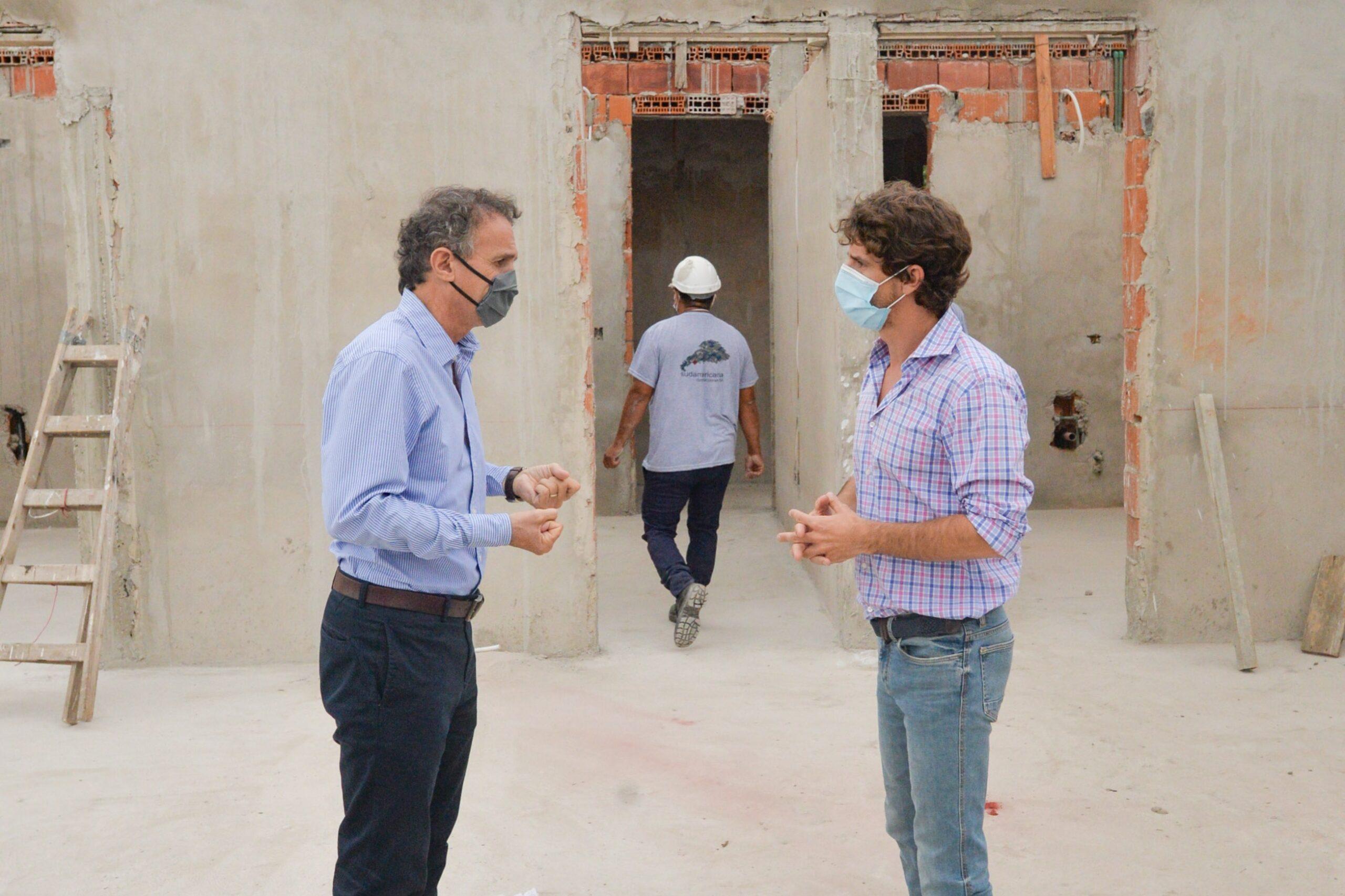 Andreotti y Katopodis recorrieron obras para San Fernando que financia la Nación