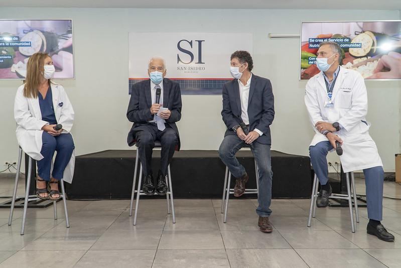San Isidro lanzó un servicio de nutrición para la comunidad con el doctor Cormillot