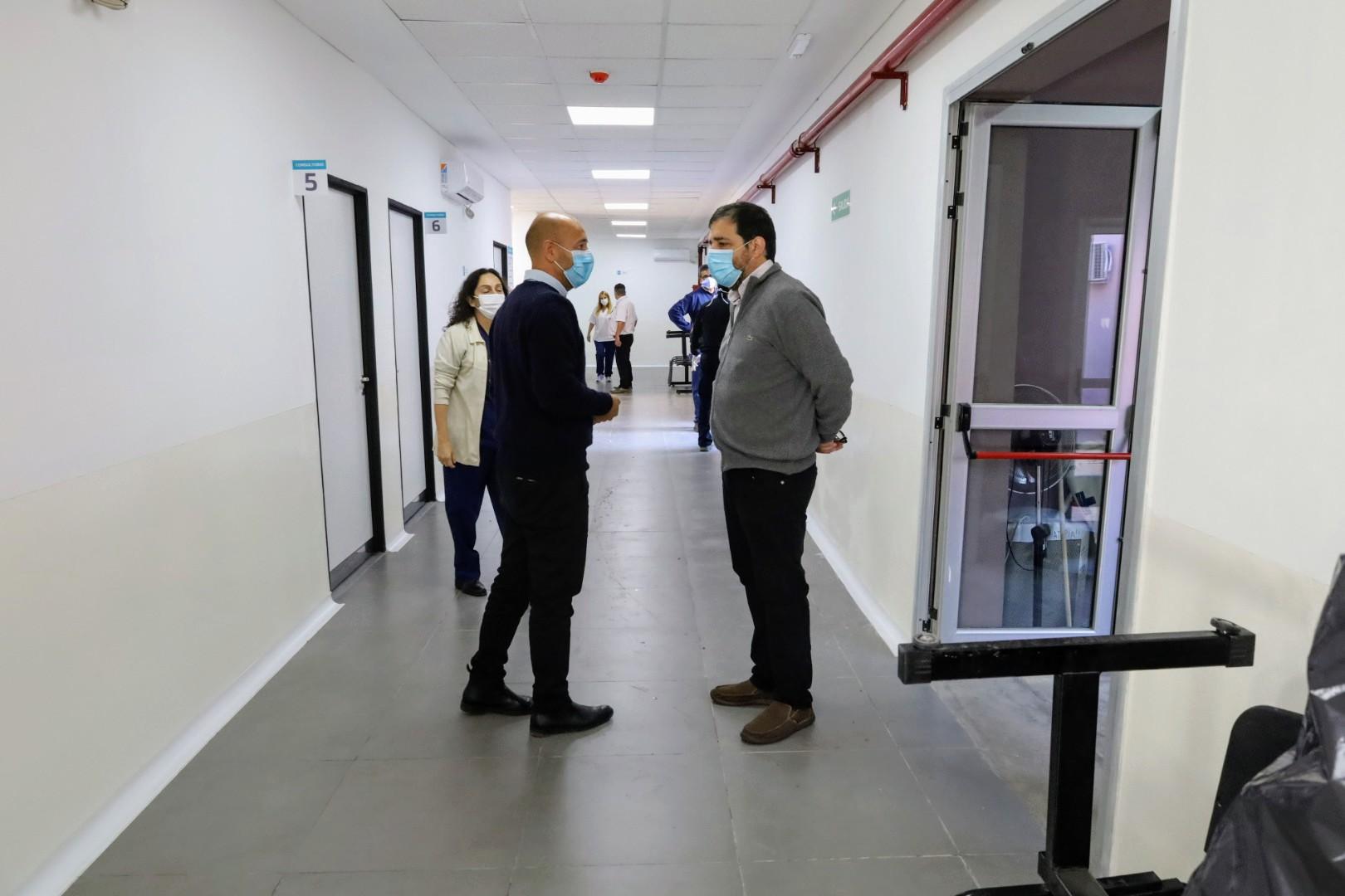 Moreira recorrió las nuevas instalaciones del Hospital Marengo