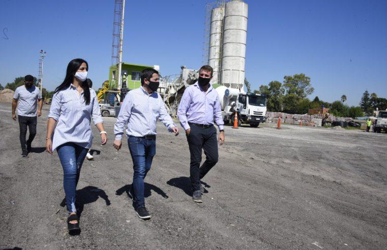 Nardini visitó la nueva Planta Hormigonera de Malvinas Argentinas