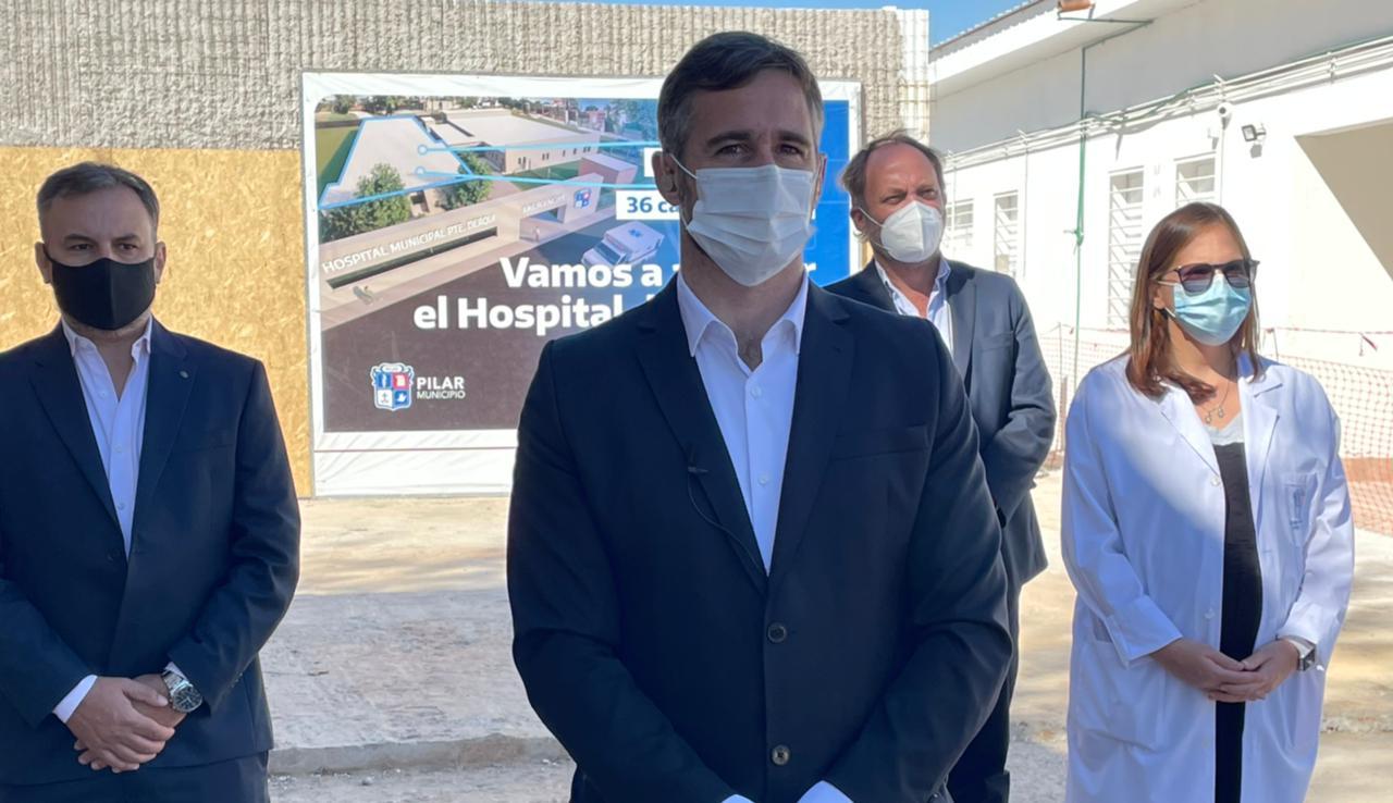 Achával compartió la ampliación del Hospital de Derqui con Alberto y Kicillof