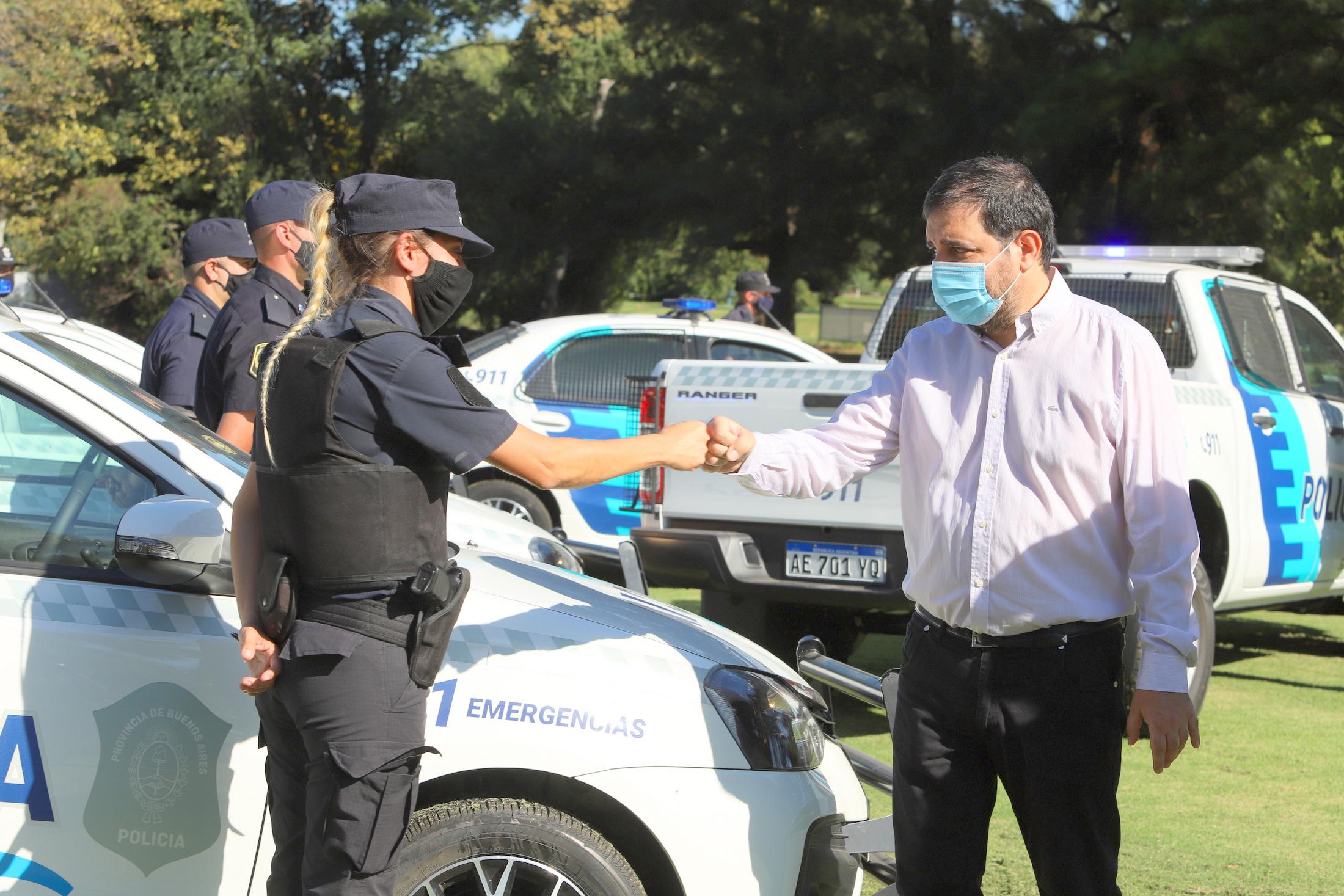 Moreira presentó 30 patrulleros nuevos para San Martín
