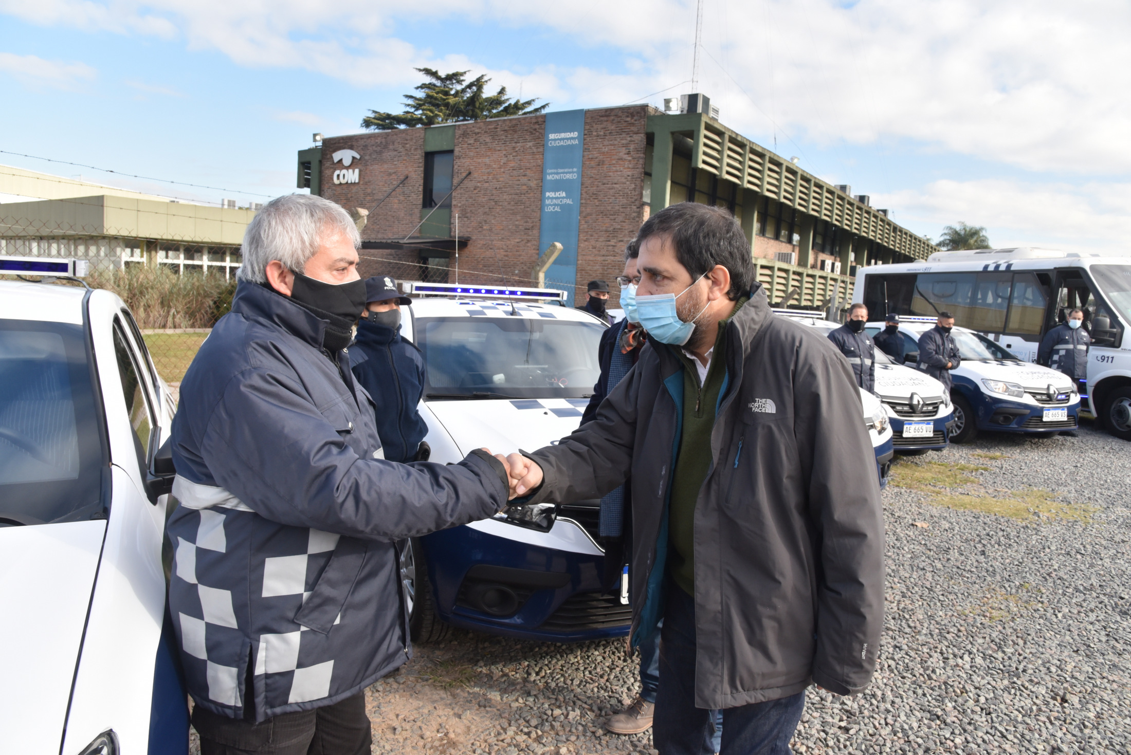 Moreira presentó 10 nuevos patrulleros de Protección Ciudadana