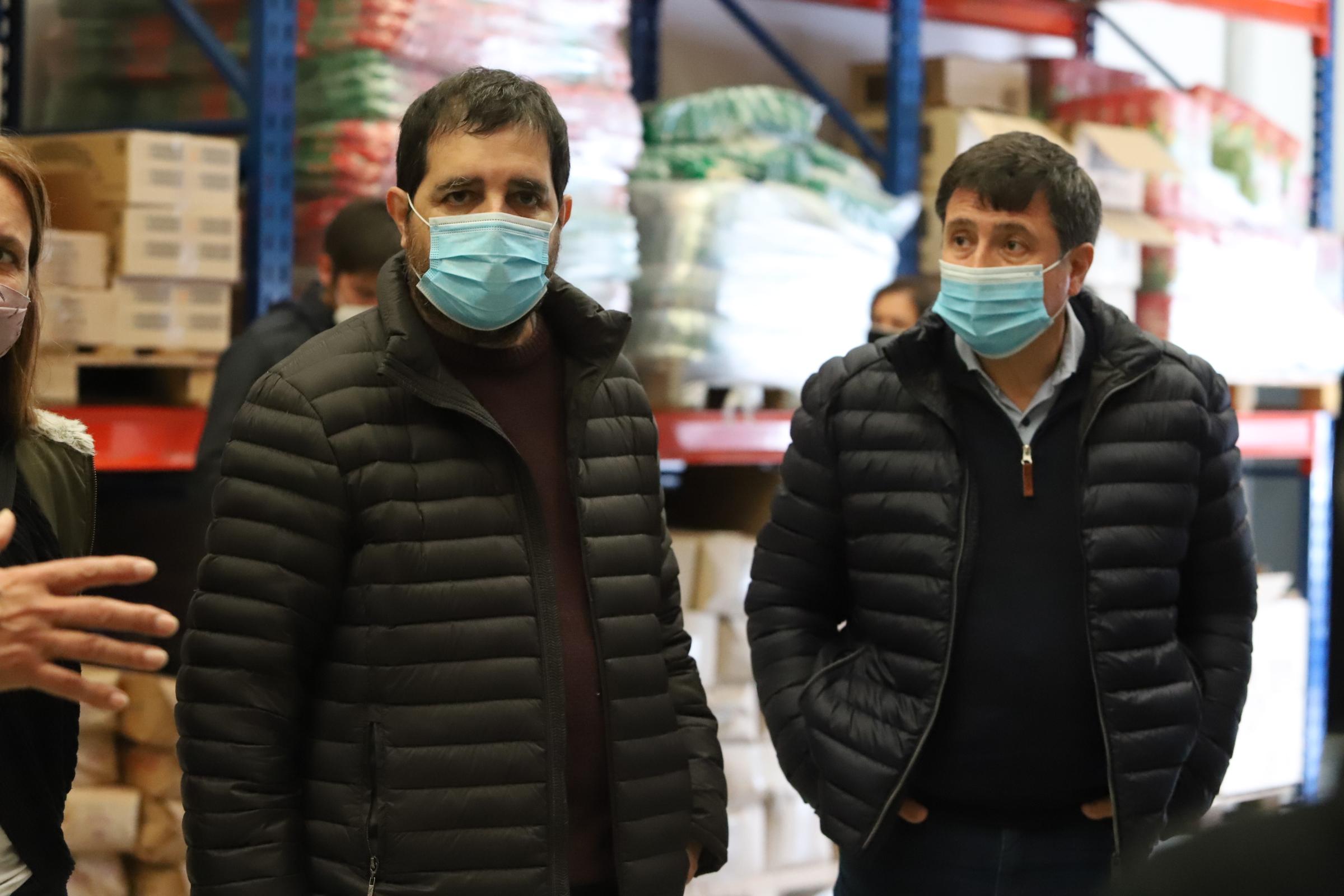 Moreira y Arroyo visitaron el Centro de Distribución Mayorista de Alimentos Cooperativos