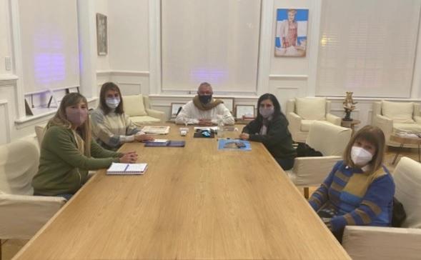 Zamora recibió a representantes de la Asociación Civil Madres del Dolor