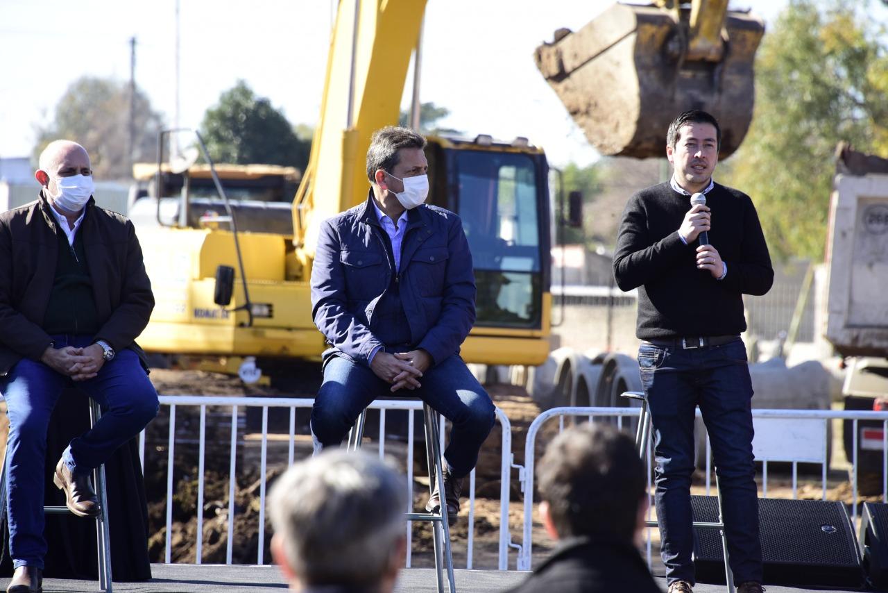 Nardini presentó junto a Kicillof, Massa y Guerrera la mega obra del paso bajo nivel de Malvinas Argentinas