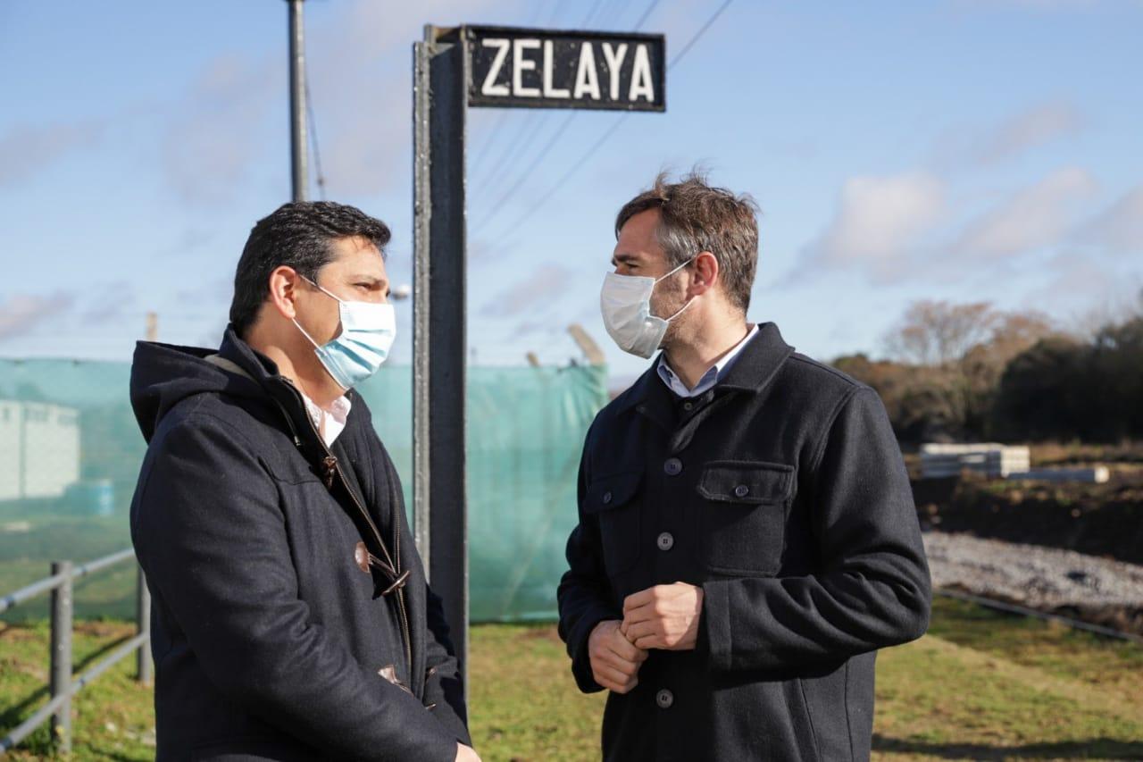Achával y Marinucci recorrieron las obras de la estación de Zelaya