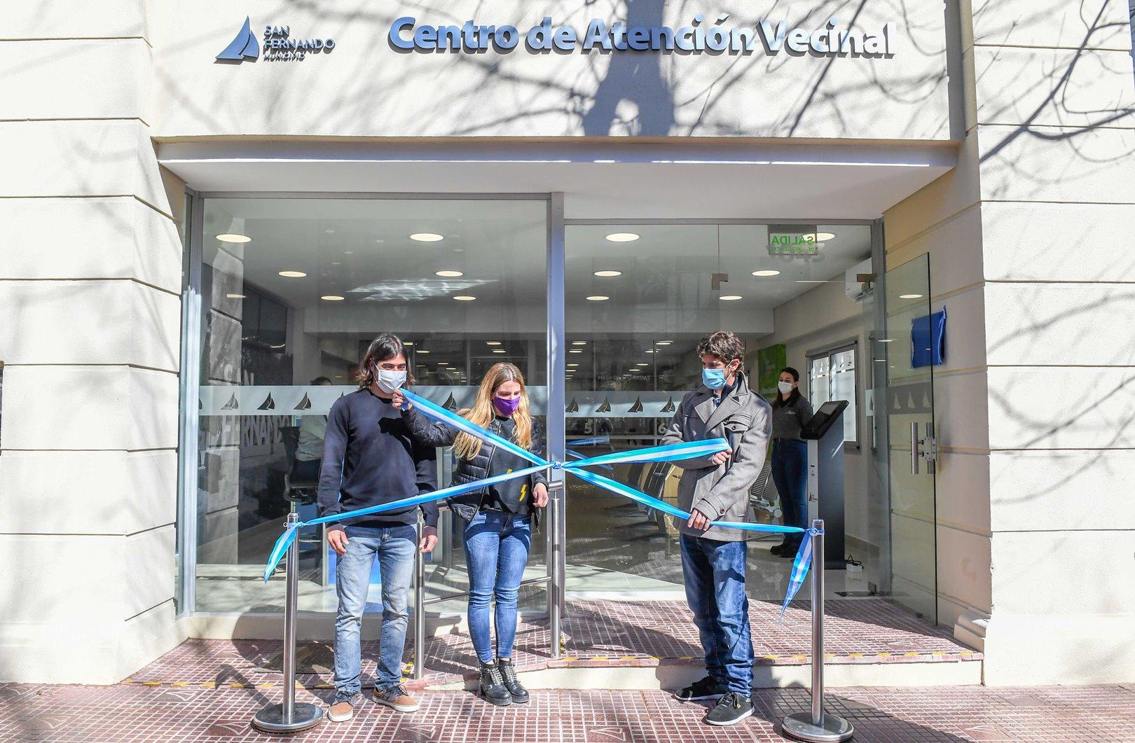 Andreotti inauguró el nuevo Centro de Atención Vecinal de San Fernando