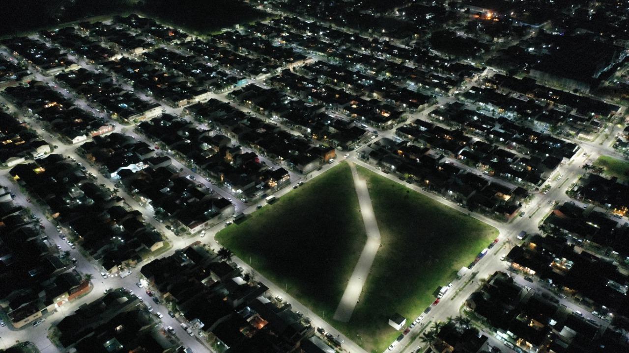 Tres de Febrero llegó al 100% de luz LED
