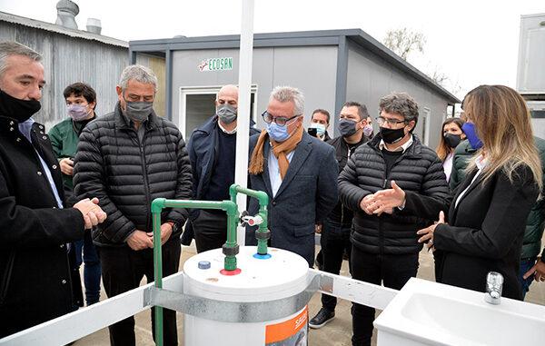 Zamora, Ferraresi y Galmarini visitaron la empresa Ecosan en Don Torcuato