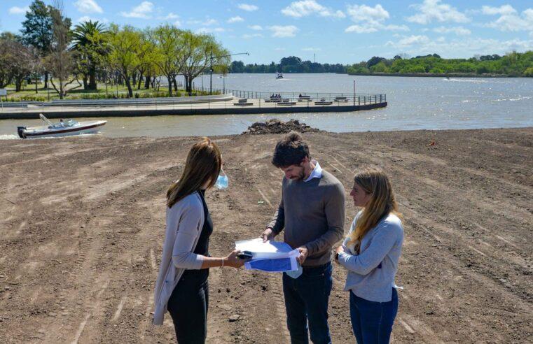 Juan Andreotti recorrió la ampliación del Parque Náutico