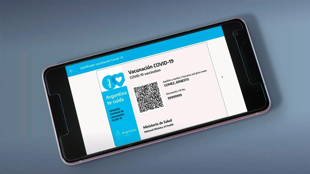 COVID: La credencial de vacunación digital de Mi Argentina será la acreditación internacional de vacunación