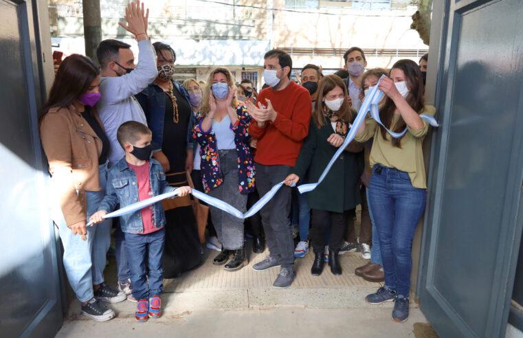 Moreira inauguró el Espacio de Juventudes y Diversidades