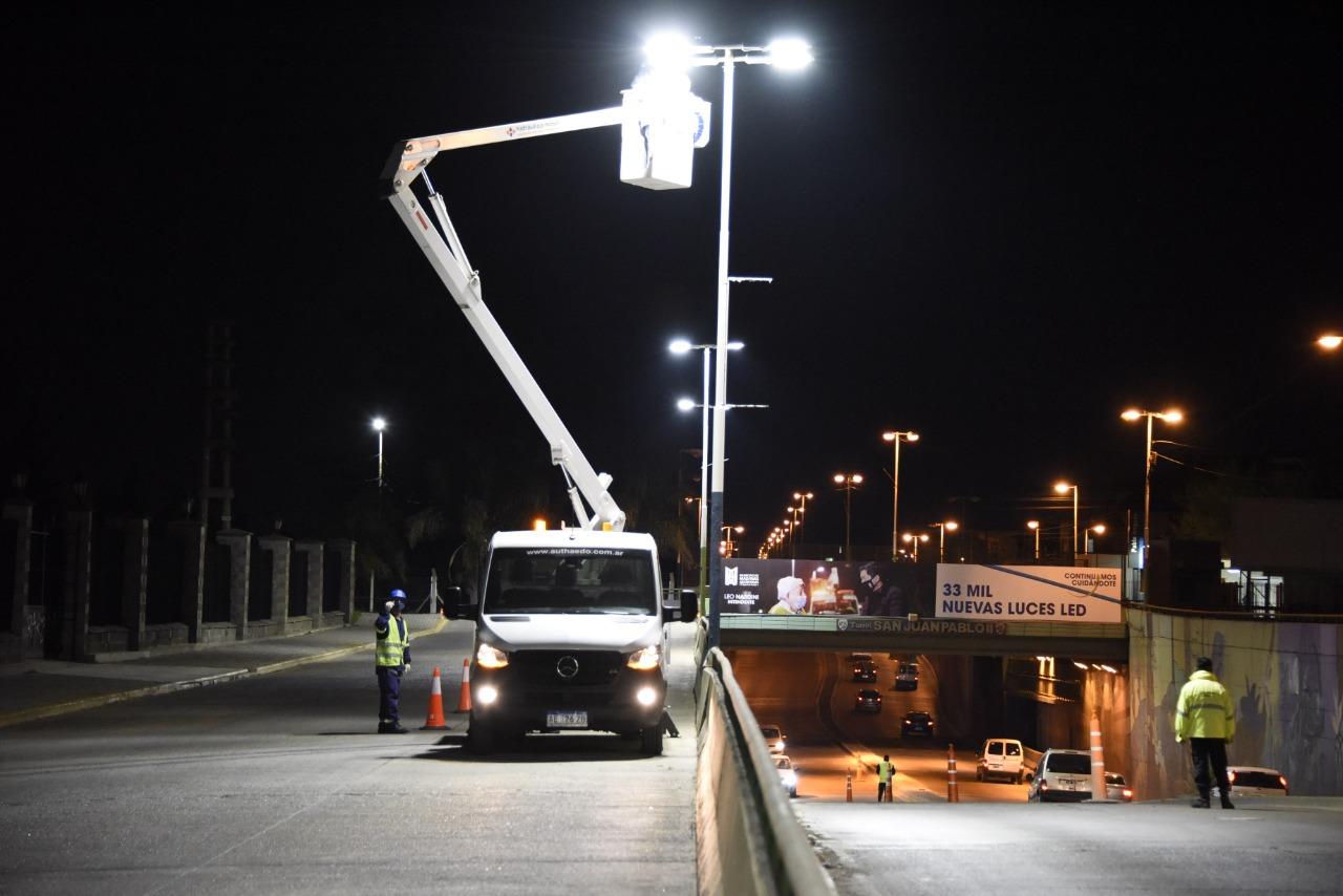 Suman 33 mil nuevas luces LED en todo Malvinas Argentinas