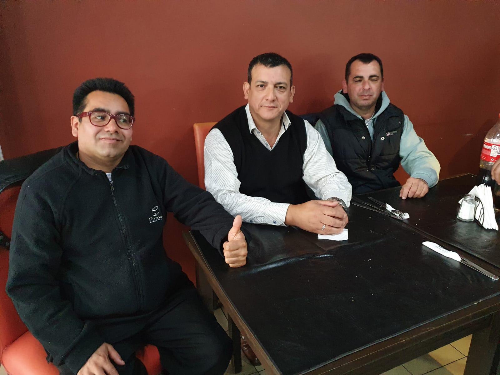 Fabián Agüero brindó su apoyo a los delegados electos del Comedor Volkswagen