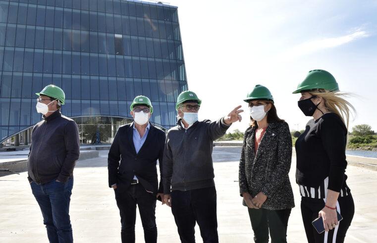 Zamora visitó Officia, el nuevo emprendimiento de oficinas sustentables en Nordelta