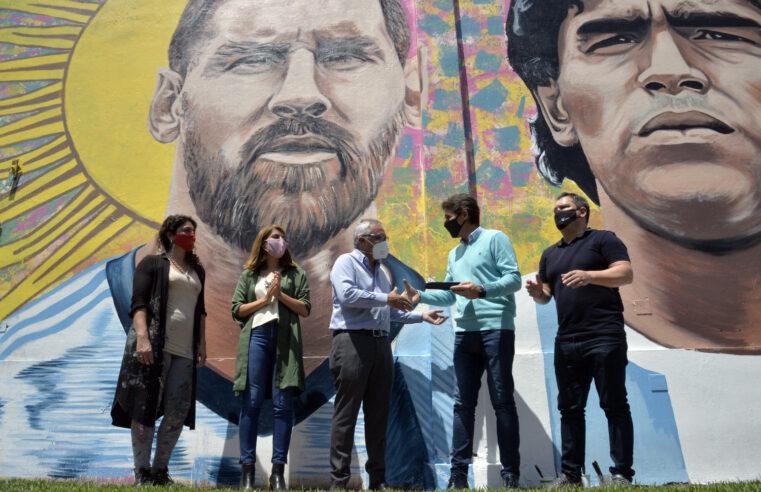Tigre presentó el Mural del Deporte en Don Torcuato