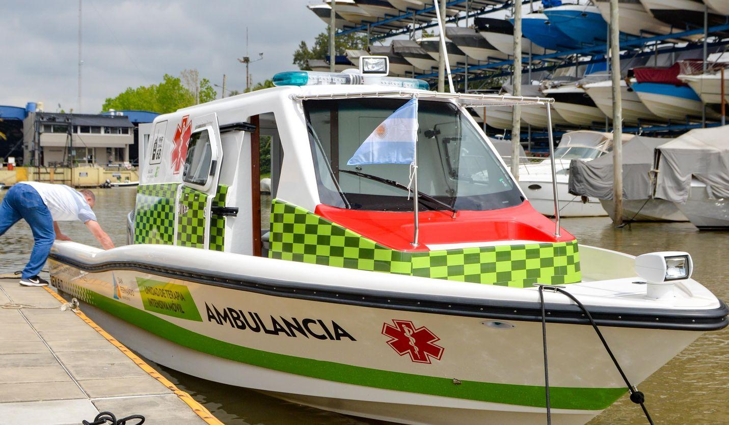 Suman nueva lancha ambulancia al sistema de salud municipal de Islas de San Fernando